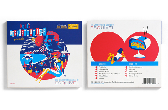 CD Cover and Back - The Unforgettable Sounds of Esquivel (Nov. 2010)