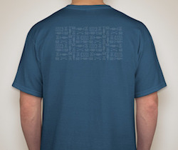 Back side art for mens blue shirt (same as the pattern you see on our website background)